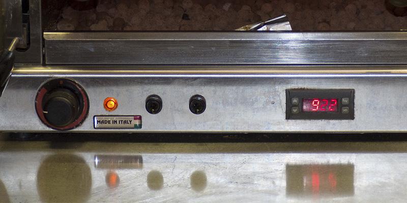 I comandi del grill ad alta temperatura